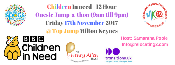 Children In need 12 Hour Jump-a-thon @ Top Jump MK-3